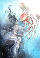 Jellyfish kiss by GemmaGuerrero
