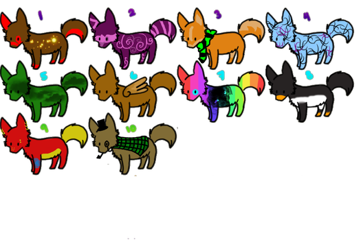 Wolf Adopts - Points - OPEN! by ThunderChaserBlank