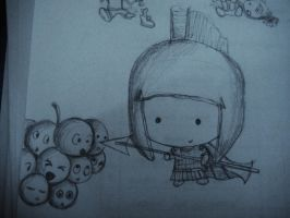 Little Spartan and Grapes by MelodicInterval