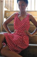 Girl in the polka dot dress II by tarnishedhalo