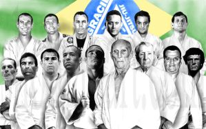 Gracie Family Lineage by ShomanArt