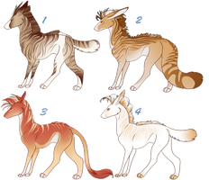 Panther Hound Adoptables 9 CLOSED by NakkAdoptables