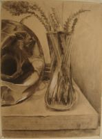 crumpled french horn and vase by gardenhoes