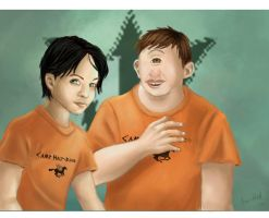 Percy Jackson and Tyson by naynaybby