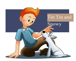 tintin and snowy by pink-ninja