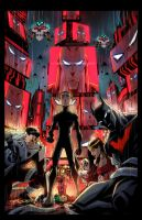 BATMAN BEYOND UNIVERSE #8 by E-Mann