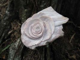 Weathered Wood and Stone Rose by stormcarver