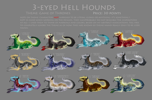 GOT r1 Hellhounds- closed by CheshireKhoshekh