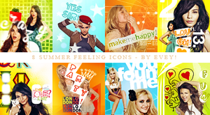 Summer feeling icons by Evey-V