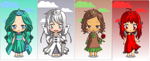 Chibi Adopts-Elemental Princesses! by superstel
