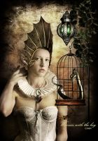 The woman with the key by CindysArt