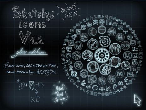 Sketchy Icons Glow ed. v 1.2 by AzureSol