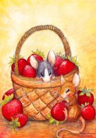 Basket full of Strawberries by Amarathimi