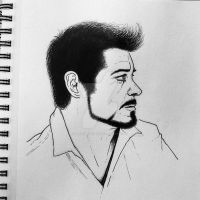 Robert Downey Jr by thesometimers