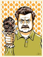 "Ron Swanson from ""Parks and Recreation"" by Hefnatron"