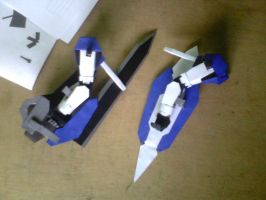 Gundam Exia W.I.P: Weapon Attachment Test by MarcGo26