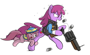 Commission: Berry Punch as Blu Demoman by TheParagon