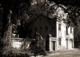 The Guest House in Sepia by SalemCat