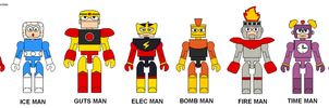 MegaMan Minimate Robot Masters by Lee-At-Arms