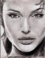 ANGELINA JOLIE SKETCH PORTRAIT by wulfwood04