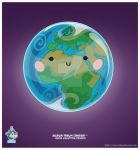 Kawaii Earth Eastern Hem by KawaiiUniverseStudio