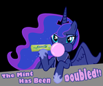 Luna Blows....Gum by DreadArkive
