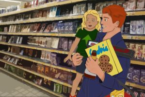 Wally and Evie Get Groceries by IronicVeghead