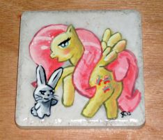 Fluttershy Collectible Tile by TheFlyinFerret