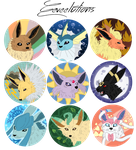 Eeveelutions by draizor007