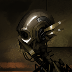 Speedpainting - Skullbot by Zerahoc
