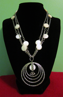 White Shell - Chain Necklace by BloodRed-Orchid