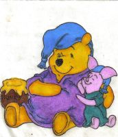 pooh bear and piglet by majerah1