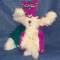 Masquerade Cat Art Doll by CreativeCritters