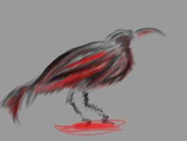 bloody crow by monmon202