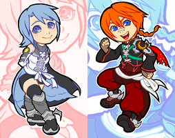 Aqua and Mico Keychains by rasenth