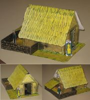 Viking House Papercraft by paperart