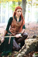 Tauriel in the forest by Itakoo