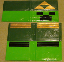 Triforce and Creeper Wallet by PompousPastries