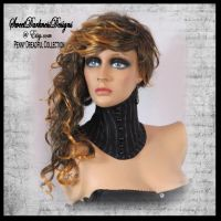 Gothic Neck Corset Penny Dreadful Neck Corset by SweetDarknessDesigns