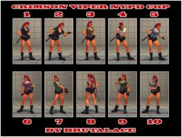 Crimson Viper NYPD Cop 10 Colors Pack by BrutalAce