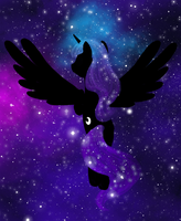 Luna Abstract - Night Flight by Nimaru