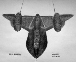 Lockheed SR-71 Blackbird by Ralph1989