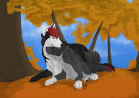 Lazy Autumn Afternoon WIP (Commission) by IndiWolfOnline