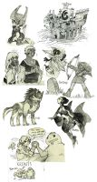 misc. Legend of Zelda sketches by evelmiina