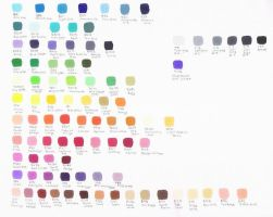 Copic Color Chart by MadzSan