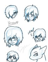 Sketches of Hiccup by GhostCrabDelight