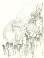 Lord of the Rings Nazgul Balrog Sauron by ChrisOzFulton