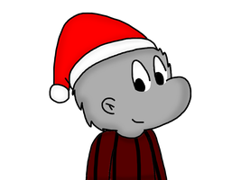 Pogo with Santa Claus hat by SuperMarcosLucky96