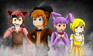 Five Nights at Freddy's human by QuincySoulz