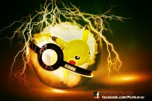 Pikachu Pokeball by CielCode